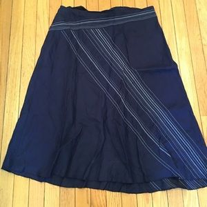 Eileen Fisher Blue Linen Skirt